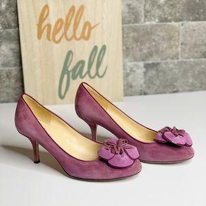 Kate spade 3D floral purple pumps heels size 7.5